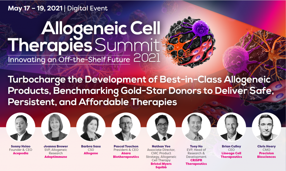 Acepodia CEO and Co-founder, Sonny Hsiao, Ph.D., to Present at Allogeneic Cell Therapies Summit 2021